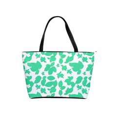 Botanical Motif Print Pattern Classic Shoulder Handbag