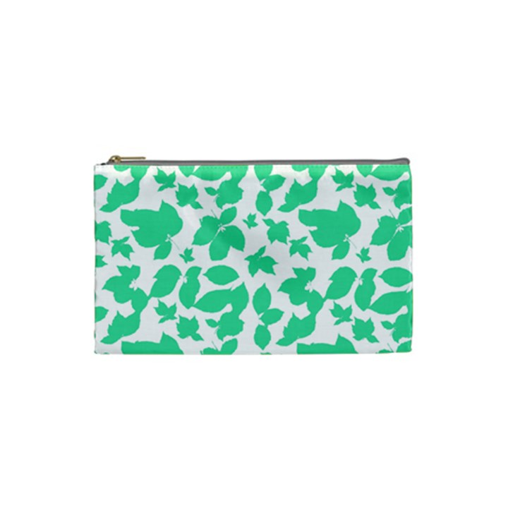 Botanical Motif Print Pattern Cosmetic Bag (Small)