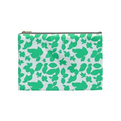 Botanical Motif Print Pattern Cosmetic Bag (Medium)