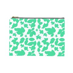 Botanical Motif Print Pattern Cosmetic Bag (Large)