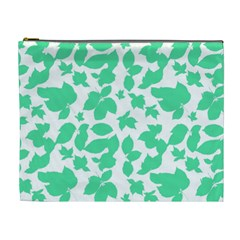 Botanical Motif Print Pattern Cosmetic Bag (XL)