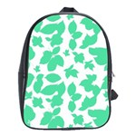 Botanical Motif Print Pattern School Bag (Large) Front