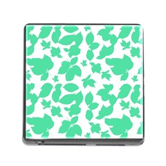 Botanical Motif Print Pattern Memory Card Reader (Square 5 Slot)