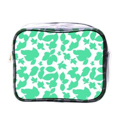 Botanical Motif Print Pattern Mini Toiletries Bag (One Side)