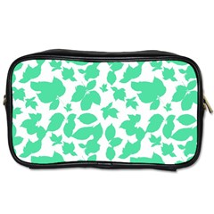 Botanical Motif Print Pattern Toiletries Bag (Two Sides)