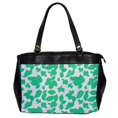 Botanical Motif Print Pattern Oversize Office Handbag
