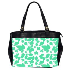 Botanical Motif Print Pattern Oversize Office Handbag (2 Sides)