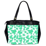 Botanical Motif Print Pattern Oversize Office Handbag (2 Sides) Back