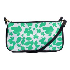 Botanical Motif Print Pattern Shoulder Clutch Bag