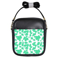Botanical Motif Print Pattern Girls Sling Bag