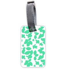 Botanical Motif Print Pattern Luggage Tag (one side)
