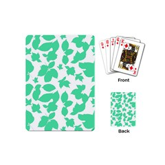 Botanical Motif Print Pattern Playing Cards Single Design (Mini)