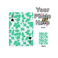Botanical Motif Print Pattern Playing Cards 54 Designs (Mini)