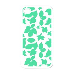 Botanical Motif Print Pattern iPhone 4 Case (White)