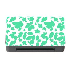 Botanical Motif Print Pattern Memory Card Reader with CF