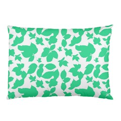 Botanical Motif Print Pattern Pillow Case (Two Sides)