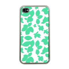 Botanical Motif Print Pattern iPhone 4 Case (Clear)
