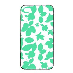 Botanical Motif Print Pattern iPhone 4/4s Seamless Case (Black)