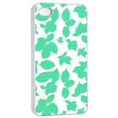 Botanical Motif Print Pattern iPhone 4/4s Seamless Case (White)