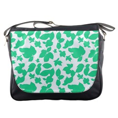 Botanical Motif Print Pattern Messenger Bag