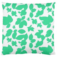 Botanical Motif Print Pattern Large Cushion Case (Two Sides)
