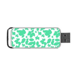 Botanical Motif Print Pattern Portable USB Flash (One Side)