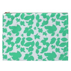 Botanical Motif Print Pattern Cosmetic Bag (XXL)
