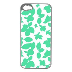 Botanical Motif Print Pattern iPhone 5 Case (Silver)
