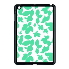 Botanical Motif Print Pattern Apple iPad Mini Case (Black)