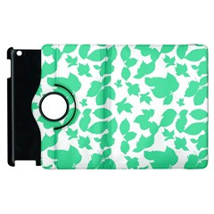 Botanical Motif Print Pattern Apple iPad 2 Flip 360 Case