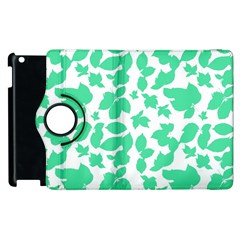 Botanical Motif Print Pattern Apple iPad 3/4 Flip 360 Case