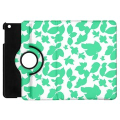 Botanical Motif Print Pattern Apple iPad Mini Flip 360 Case