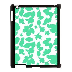 Botanical Motif Print Pattern Apple iPad 3/4 Case (Black)