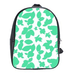 Botanical Motif Print Pattern School Bag (XL)