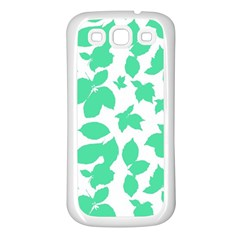 Botanical Motif Print Pattern Samsung Galaxy S3 Back Case (White)