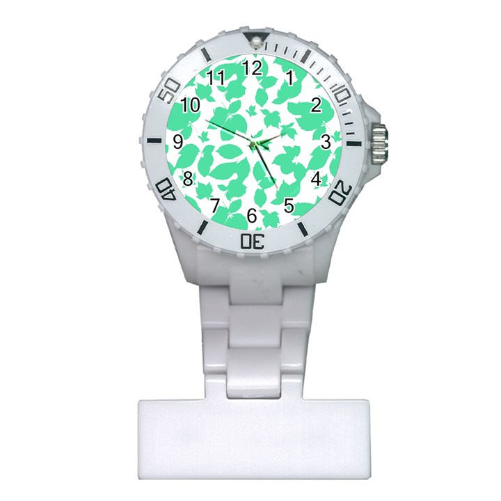 Botanical Motif Print Pattern Plastic Nurses Watch