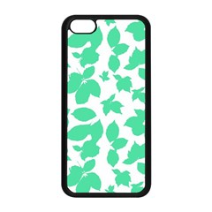 Botanical Motif Print Pattern iPhone 5C Seamless Case (Black)