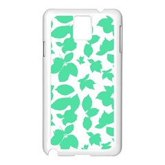 Botanical Motif Print Pattern Samsung Galaxy Note 3 N9005 Case (White)