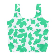 Botanical Motif Print Pattern Full Print Recycle Bag (L)