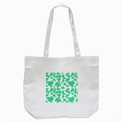 Botanical Motif Print Pattern Tote Bag (White)