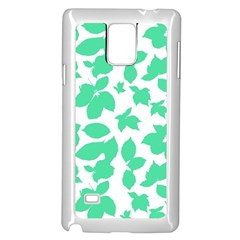 Botanical Motif Print Pattern Samsung Galaxy Note 4 Case (White)