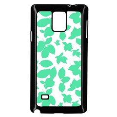 Botanical Motif Print Pattern Samsung Galaxy Note 4 Case (Black)