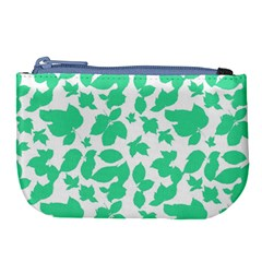 Botanical Motif Print Pattern Large Coin Purse