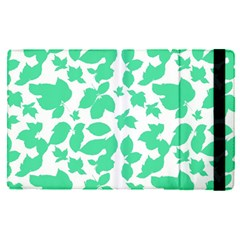 Botanical Motif Print Pattern Apple iPad Mini 4 Flip Case