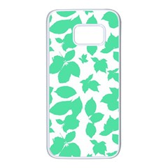 Botanical Motif Print Pattern Samsung Galaxy S7 White Seamless Case