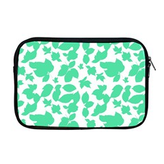Botanical Motif Print Pattern Apple MacBook Pro 17  Zipper Case