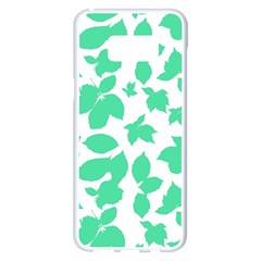 Botanical Motif Print Pattern Samsung Galaxy S8 Plus White Seamless Case