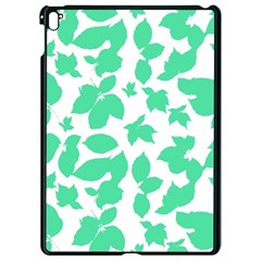 Botanical Motif Print Pattern Apple iPad Pro 9.7   Black Seamless Case