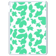 Botanical Motif Print Pattern Apple iPad Pro 9.7   White Seamless Case