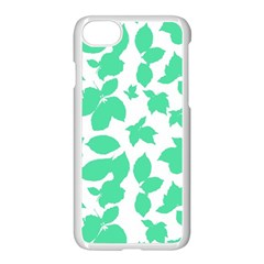 Botanical Motif Print Pattern iPhone 8 Seamless Case (White)